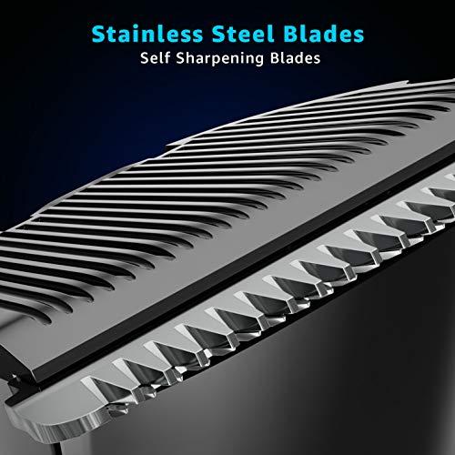 Vega T-1 Beard Trimmer for Men, Stainless Steel Blades, Cordless & Rechargeable, 1N, Black, 220 Grams