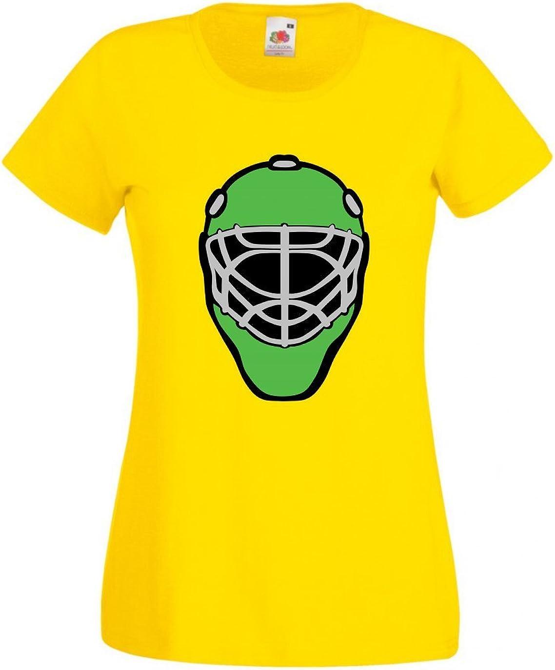 Druckerlebnis24 Camiseta de Casco, Hockey sobre Hielo, máscara, Portero, protección, Campo, para Hombre, Mujer, niños, 104 – 5XL