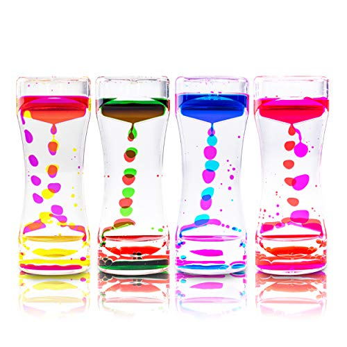 Super Z Outlet Liquid Motion Bubbler for Sensory Play, Fidget Toy, Children Activity, Desk Top, Assorted Colors (1 Piece)