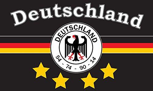 TS24direkt Deutschland Fahne 4 Sterne ca. 150 x 250 cm - 54-74 - 90-14