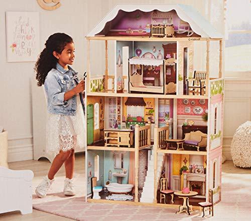 "KidKraft 65956 Charlotte Dollhouse with Ez Kraft Assembly Dollhouses, Multicolor, 32.5 x 11.8 x 49"""