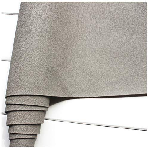 Tela de Cuero Sintético 140 Cm de Ancho Tela de Cuero Sintético PU, para Cuero de Sofá, Asiento de Cuero Interior de Automóvil (Gris Claro)(Size:1.4 * 2m)