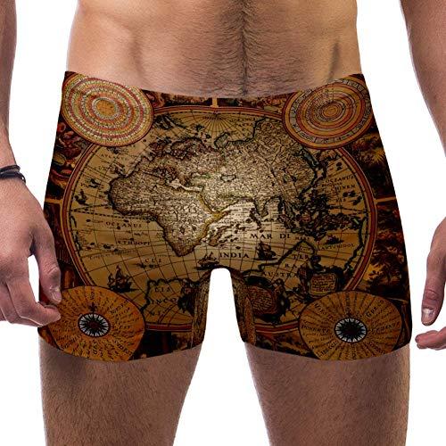 Nobrand - Bañador para hombre, diseño de mapa antiguo Mult