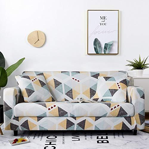 Housse de canapé Housses de Meubles Extensibles Housses de canapé élastiques pour Salon Housses pour fauteuils canapé décoration de la Maison Tissu A15 4 Places