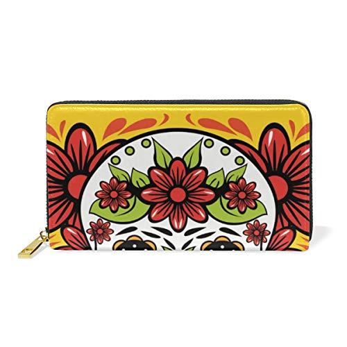 MONTOJ - Portafoglio da donna con teschio messicano