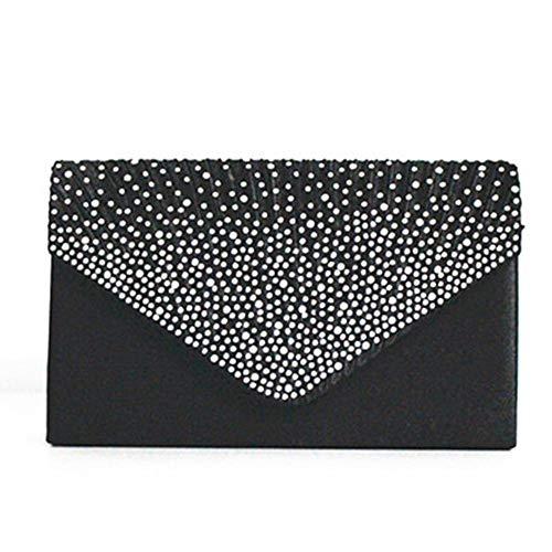 NMERWT Damen Handtaschen Große Abend Satin Diamante Tasche Schulter diagonal Paket Damen Handtaschen mit Pailletten Clutch Bag Party Umschlagtasche