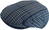 Summer Plaid Ivy Scally Driver Cap Polyester Flat Hat (Medium, Blue/Green/Red)