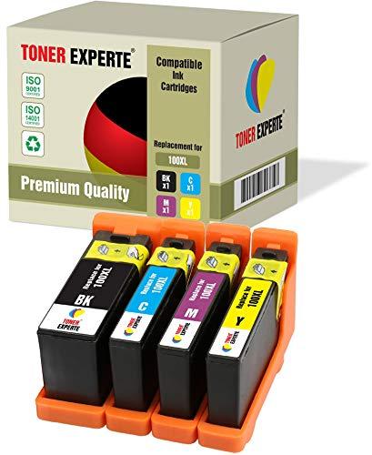 4 XL TONER EXPERTE® 100XL 100 XL Druckerpatronen kompatibel für Lexmark S300 S305 S402 S405 S505 S602 S605 S608 S815 S816 Pro 202 205 208 209 705 805 901 905 (Schwarz, Cyan, Magenta, Gelb)