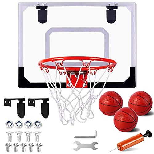 STAY GENT Mini Canestro Basket Kit per Bambini e Adulti, Mini Tabellone Basket da Camera Interno per Porta Muro Montato e Camera, Ufficio, Divertenti set Regalo di Basket per Bambino Ragazzi e Ragazze