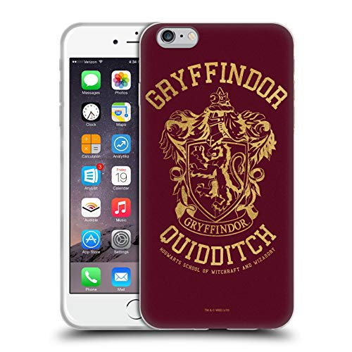 Head Case Designs Licenza Ufficiale Harry Potter Gryffindor Quidditch Deathly Hallows X Cover in Morbido Gel Compatibile con Apple iPhone 6 Plus/iPhone 6s Plus