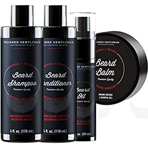 Beard Care Kit For Men Includes Beard Shampoo and Conditioner Set, Beard Balm and Beard Growth Oil - Beard Grooming Kit… 1