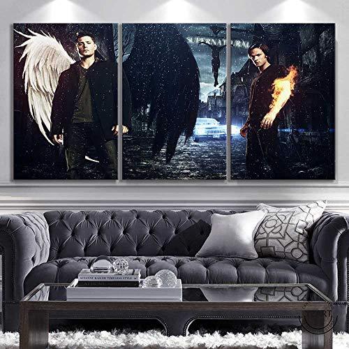 CAPTIVATE HEART Leinwand Bedrucken 50x70cm x3 kein Rahmen Abstrakte Kunst HD-Bild Filmplakat Supernatural Sam & Dean Poster Wanddekoration Gemälde Wohnzimmer Dekor