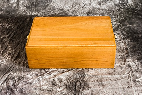 """Pet Casket For Dogs– Wooden Burial Coffin for Dogs and Cats – Wood Dog Burial Box Handmade by Amish Craftsman - 24"""" Medium Pinnacle Woodcraft"""
