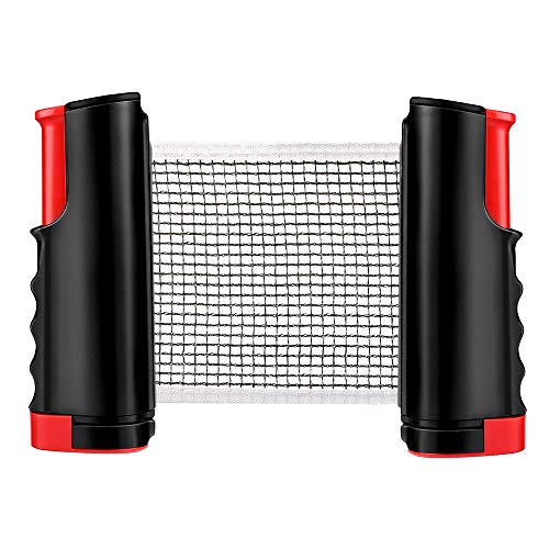 Best Bargain Table Tennis Net Portable Anywhere Retractable Ping Pong Post Net Rack for Any Table Fa...