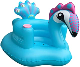 Inflatable Sofa  Blue Peacock Baby Inflatable Small Sofa Seat Baby Learning Chair Dining Chair Bath Stool Inflatable Toy  Anti Slip Safety Ring Seat for Infant Child Kids Green