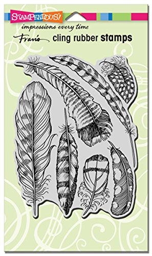 Stampendous Cling Rubber Stamp Feathers