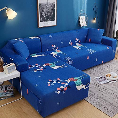 Allenger Funda de sofá de Alta Elasticidad,Fundas elásticas seccionales para sofá en Forma de L, diseño de Funda para sillón de Esquina, 11_140-185cm