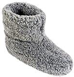 Estro Herren Damen Hausschuhe Reine Wollhausschuhe - Hüttenschuhe Stiefel Warm Winter Wolle Warme...