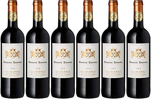 6x Corbières rouge La Réserve Samarel 2018 - Weingut Vignerons de Cascastel, Languedoc - Rotwein