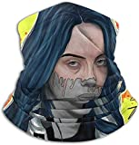 Aidyasd Bil-Lie Songstress Tube Neck Neck Warmer Soft Headwear Face Scarf Cover for Cold Weather Winter Outdoor Sports Black