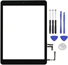 Touch Screen Digitizer Glass Assembly for Black iPad Air 1st A1474 A1475 A1476 Replacement Includes Home Button,Camera Holder,Preinstalled Adhesive,Toolkit.