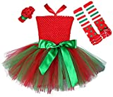 Tutu Dreams My First Easter Baby Girls Outfit with Leggings and Headband Pets Dogs Cats Elf Costumes(S, Redgreen)
