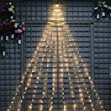 YASENN Bunch Lights 300led Firefly Bunch Lights,Plug in Cluster Fairy Lights Rice,Starry Bunch String Lights for Christmas/Party/Garden/Tree/Indoor/Outdoor Decorations(9.8ft 10 Strands Warm White)