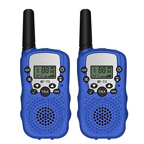 HJWL 2PCS Walkie Talkie Portatile a Due Bande Radio a Due Vie 22 CH 3-10KM Campo di Copertura citofono for i Bambini Adulti Outdoor Adventure (Color : Blue)