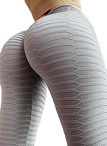 CORAFRITZ Las mujeres de la moda de cintura alta deportes control de barriga Medias pantalones gimnasio entrenamiento fitness yoga pantalones atléticos adelgazar color sólido botín Legging
