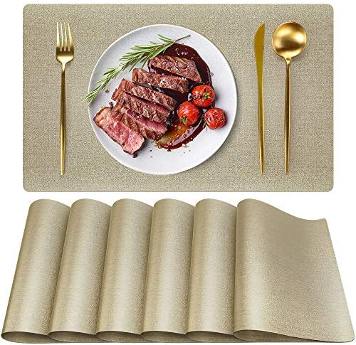 Placemats for Dining Table Set of 6 PVC placemats Washable Waterproof Washable Non Slip Placemats product image