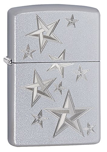 Zippo 3D STARS aansteker, messing, zilver, one size