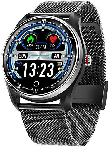 Pulsera de reloj inteligente impermeable para hombre, podómetro multifuncional, monitoreo del sueño, recordatorio de información