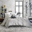 Kenneth Cole Reaction Home Elements Reversible Duvet Cover in Grey Mist - Bed Bath & Beyond