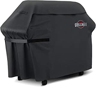 "Grillman Premium BBQ Grill Cover, Heavy-Duty Gas Grill Cover for Weber, Brinkmann, Char Broil etc. Rip-Proof, UV & Water-Resistant (60"" L x 28"" W x 44"" H)"