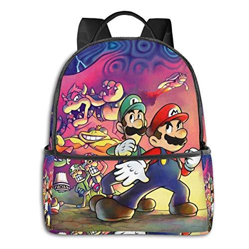 zhengdong Sup-er Mar-io Bo-wser School Backpacks Purse for Boys Teen Girls Women Men, Personalized Hiking Backpack Laptop Backpack S
