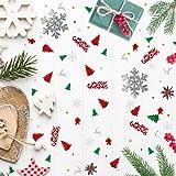 GWHOLE 100g Metallic Konfetti Weihnachten Tischdeko Streudeko DIY Handwerk Basteln - 2