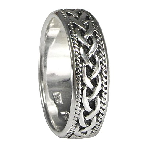 Moonlight Mysteries Woven Celtic Knot Ring Band for Men or Women (Available sz 4-15) sz 11