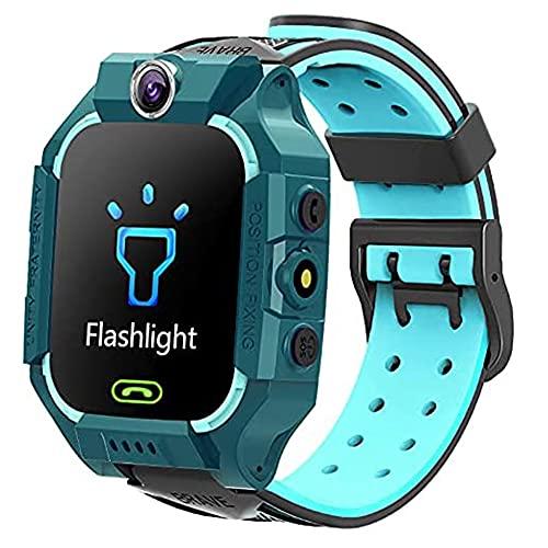 EUPEFIST Reloj De Pulsera Inteligente con GPS para Niños, Reloj Inteligente con GPS Resistente Al Agua Reloj con GPS con Localización En Tiempo Real para Niños De 4 A 14 Años Regalos para Niñas,Verde