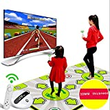 WFGZQ Kabellose Doppeltanzmatte, Verschleißfeste Falttanzmatte, Kindertanzmatte, Dual-Use-Betrieb Von HD-TV-Computer, Indoor-Yoga-Spielmatte,rutschfeste Tanz-Step-Tanzmatte -