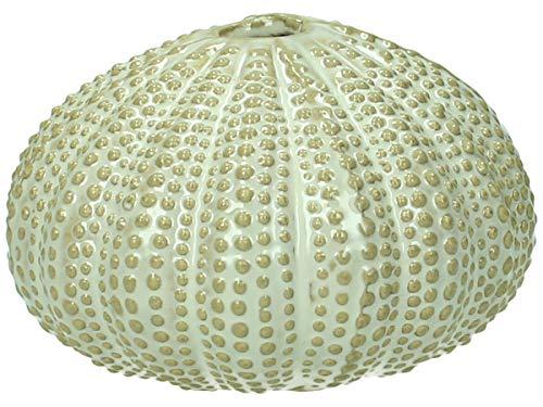 Vaas - keramiek - wit - 10x10x6cm