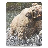 マウスパッド くま 滑り止め 防水 PC ラップトップ 水洗い レーザー 光学式 18*22cm