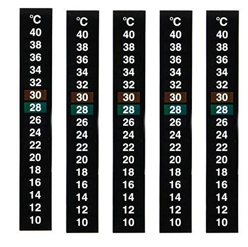 Big Bargain Store Aquariumthermometeraufkleber LCD-Aquariumthermometer Streifentemperaturänderung Farbtemperaturmessaufkleber