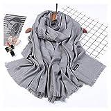 Scarfs Scarf Imitation Cashmere Material Solid Color Warm Scarf Shawl Fashion (Color : Grey, Size : 85200)
