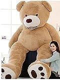 ぬいぐるみ 特大 くま/テディベア 可愛い熊 動物 大きい くまぬいぐるみ/熊縫い包み/クマ抱き枕/お祝い/ふわふわぬいぐるみ (ブラウン, 160cm)