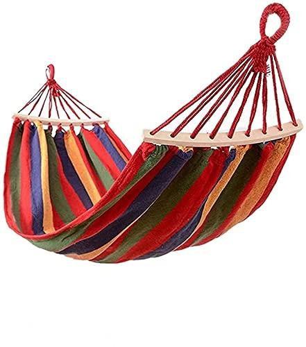 Auink Hamaca portátil para Exteriores Hamaca de Lona Doble para Acampar Silla Colgante Silla Columpio Tienda de Hamaca Fácil de Instalar