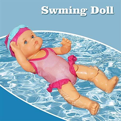 Junean Schwimmpuppe, Mini People Figuren, Nicht silikon Ungenießbare Mini Dekorationen Spielen Spielzeug Wasserdichtes Badewannenspielzeug für Kinder Baby