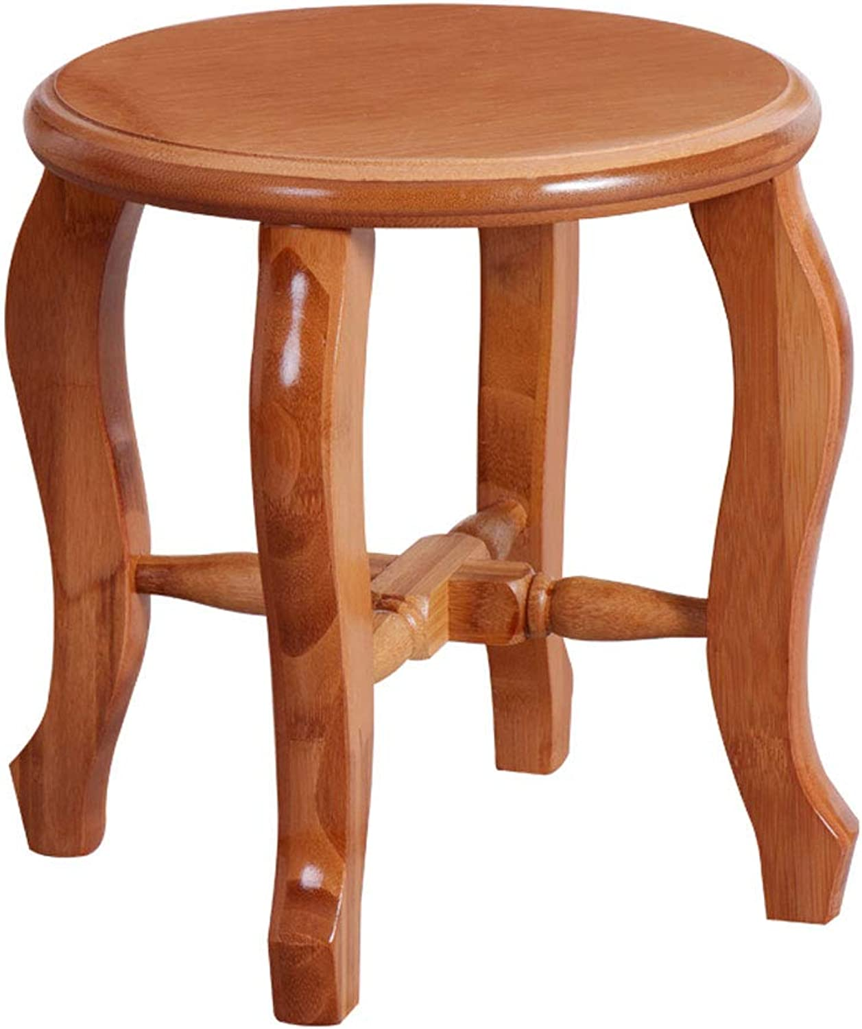 Stool Bamboo Home Antique Simple Assembled Solid color Sofa Coffee Table Footstool V (Size   L26CMXW26CMXH28CM)