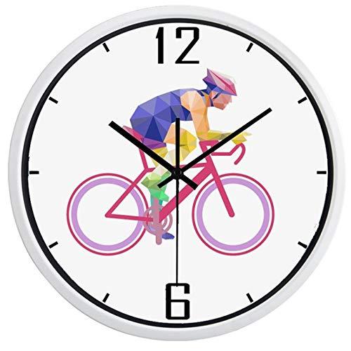 Horloge Murale Cyclistes Sport La Nouvelle Marque Muet Conception Horloge Murale Durable Cercle Horloge Classique 12 Pouces B429W