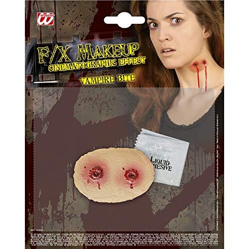 Widmann 4150V Speciaal effectset Vampir Biss, unisex – volwassenen, rood, één maat