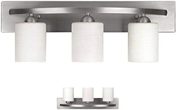 Vanity Bath Light Bar Interior Lighting Fixture (Brushed Nickel, 3 Lights)